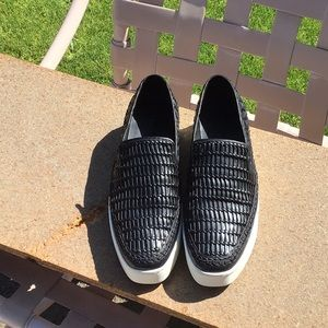 Vince leather woven Stafford Slip-On sneakers